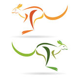 Kangaroo. Vector image of an kangaroo on a white background Royalty Free Stock Images