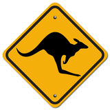 Kangaroo. The sign to warn you to beware the kangaroo Royalty Free Stock Image