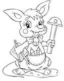 Kangaroo. Illustration of the little kangaroo engineer Stock Photos