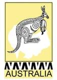 Kangaroo-aboriginal art Stock Photos