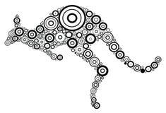 Kangaroo. Aboriginal art style. Vector abstract illustration royalty free illustration