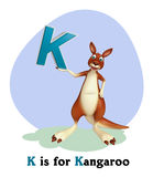 Kangaroo with alphabet Royalty Free Stock Photos