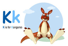 Kangaroo with alphabet Royalty Free Stock Photo