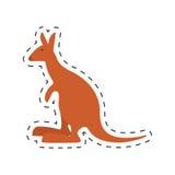 Kangaroo australia pet animal dot line. Illustration eps 10 royalty free illustration