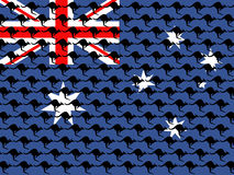 Kangaroo and australian flag Royalty Free Stock Photos