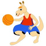 Kangaroo with ball Royalty Free Stock Photography