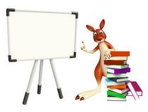 Kangaroo cartoon character  with display board and book Stock Photo