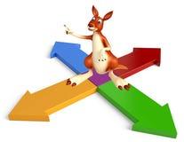 Kangaroo cartoon character Kangaroo cartoon character  Royalty Free Stock Photos