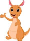 Kangaroo cartoon presenting Royalty Free Stock Photos