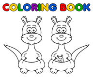 Kangaroo for coloring Stock Images