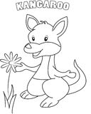 Kangaroo coloring page Stock Photo