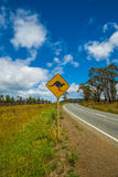 Kangaroo Crossing Royalty Free Stock Photos