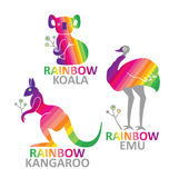 Kangaroo, emu, koala - design template. Royalty Free Stock Photo