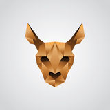 Kangaroo face origami Stock Image