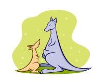 Kangaroo family Stock Images