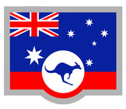 Kangaroo flag Royalty Free Stock Images