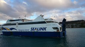 Kangaroo Island SeaLink. SeaLink ferries are the only ferry service operating between mainland South Australia and Kangaroo Island Royalty Free Stock Photos