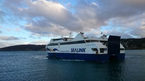 Kangaroo Island SeaLink. SeaLink ferries are the only ferry service operating between mainland South Australia and Kangaroo Island Stock Image