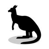 Kangaroo marsupial mammal black silhouette animal Royalty Free Stock Images