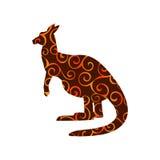 Kangaroo marsupial mammal color silhouette animal Royalty Free Stock Photography