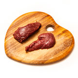 Kangaroo meat isolated on a white studio background. Stock Images