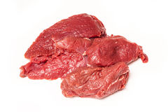 Kangaroo meat isolated on a white studio background. Royalty Free Stock Image