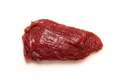 Kangaroo meat isolated on a white studio background. Uncooked kangaroo meat steaks  isolated on a white studio background Royalty Free Stock Images