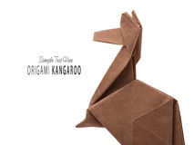 A kangaroo origami Royalty Free Stock Image
