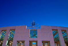 Kangaroo on the Parliament house of Canberra. Kangaroo on the top of Parliament house of Canberra, everybody will watch this Australia national Animal Royalty Free Stock Images