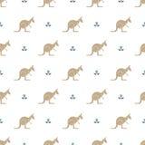 Kangaroo pattern Royalty Free Stock Photography
