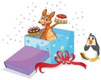 Kangaroo and penguin Royalty Free Stock Image