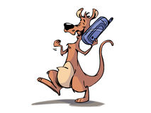 Kangaroo on the phone Royalty Free Stock Photos