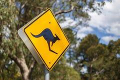 Kangaroo road sign Royalty Free Stock Image