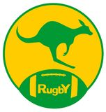 Kangaroo rugby Royalty Free Stock Photos