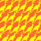 Kangaroo seamless pattern. Australian wallaby ornament. Texture Royalty Free Stock Photo