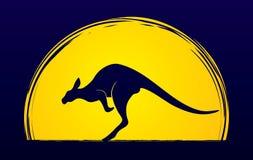 Kangaroo shape graphic Stock Images