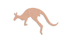 Kangaroo shape paper box Royalty Free Stock Images