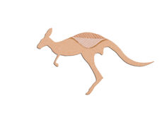 Kangaroo shape paper box Stock Image