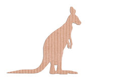 Kangaroo shape paper box Stock Photography