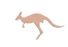 Kangaroo shape paper box Stock Photo