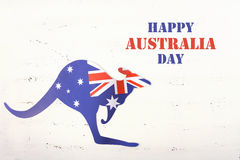 Kangaroo shaped Australian flag. Royalty Free Stock Photos