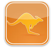 Kangaroo sign Royalty Free Stock Images