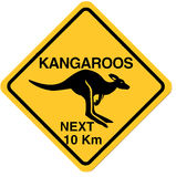 Kangaroo sign Royalty Free Stock Photos