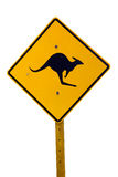 Kangaroo Sign Stock Photography