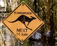 Kangaroo sign Royalty Free Stock Photo