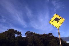 Kangaroo Sign Stock Photo