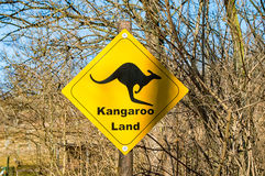 Kangaroo sign country Royalty Free Stock Image