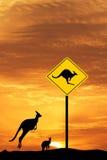 Kangaroo sign Stock Photos