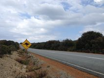 Kangaroo sign. Next to a road in Albany Western Australia Stock Photos