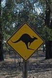 Kangaroo sign post Royalty Free Stock Photo